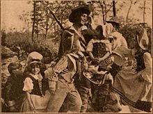 Still from the 1910 silent film Rip Van Winkle.  The film is lost.