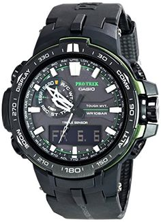 Casio Mens PRW6000Y1ACR Pro Trek Black AnalogDigital Sport Watch ** More info could be found at the image url.Note:It is affiliate link to Amazon. #MensWatch