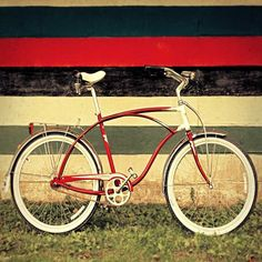 Bicycle art bike photography red bike still by Carl Christensen