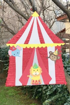 Kids love to pinatas and they make an awesome circus party decoration. There's nothing more exciting than smashing one to bits with a bat and running around trying to catch as much candy as you can as it falls from the sky. See more party ideas and share yours at CatchMyParty.com Circus Party Games, Carnival Party Foods, Circus Party Decorations, Circus Carnival Party, Party Activities, Fun Activities For Kids, Diy Party Supplies, Best Part Of Me, Girl Birthday