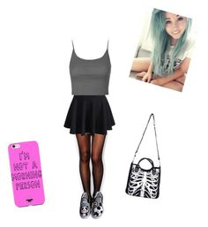 """""""Untitled #187"""" by meganharb on Polyvore featuring Wolford, Poizen Industries, WithChic, Topshop and HVBAO"""