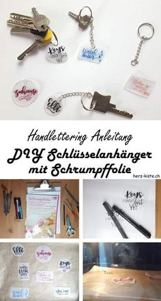 In dieser Handlettering Anleitung erfährst du, wie du ganz einfach selber Schlüsselanhänger gestalten kannst. Mit Lettering und Schrumpffolie entstehen so einzigartige und individuelle Geschenke.