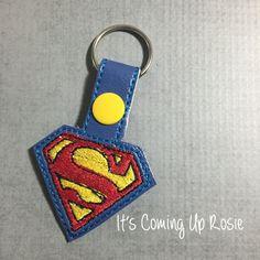 Superman Keychain  Zipper Pull  Snap Tab by ItsComingUpRosie