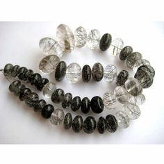 Rutilated Quartz Rondelles Rondelle Beads Approx by gemsforjewels, $75.50