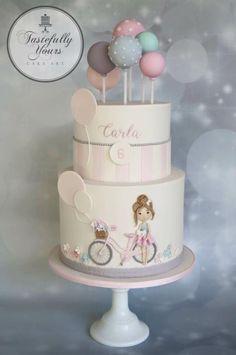 Tastefully Yours Cake Art - Timeline Cute Cakes, Pretty Cakes, Beautiful Cakes, Amazing Cakes, Fondant Cakes, Cupcake Cakes, Bolo Paris, Birthday Cake Girls, Birthday Cakes