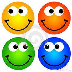 Colourful smileys