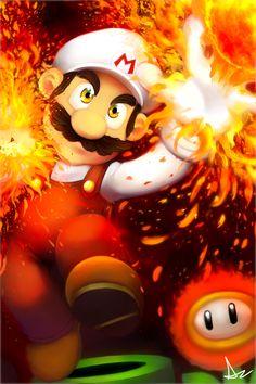 Firaga Luigi to go with Firaga Mario! XD Poor Luigi is always second fiddle to Mario, I think it's partly because he'. Mario Bros., Mario And Luigi, Mario Party, Super Mario Art, Super Mario World, Gi Joe, Nintendo World, Pokemon, Fanart