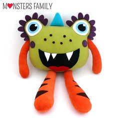 Monster Pillow for babies stuffed toy plush by MonstersFamily