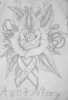 62 Best Rose Tattoo Cancer Ribbon Images Breast Cancer Tattoos