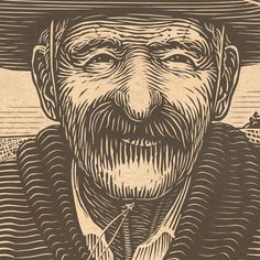 Illustration of a Gaucho for an upcoming beverage label. Thanks to Cody Small for his excellent art direction! Lino Art, Woodcut Art, Linocut Prints, Art Prints, Scratchboard Art, Engraving Art, Arte Popular, Copics, Gravure