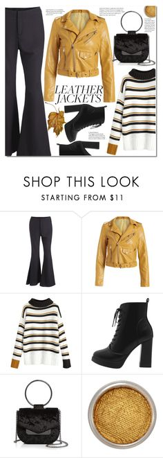 """Cool-Girl Style: Leather Jackets"" by duma-duma ❤ liked on Polyvore featuring Nasty Gal, Suva Beauty and leatherjackets"