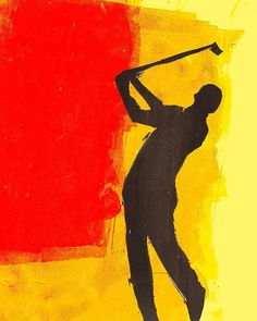Illustration done by Ragzillo aka Michael Ragsdale Golfer series 1 of 3 print. Each print is individually signed. Printed on Premium high quality art paper. Painting Inspiration, Art Inspo, Golf Drawing, Golf Tattoo, Golf Painting, Sports Drawings, Cute Canvas Paintings, Golf Art, Birthday Scrapbook