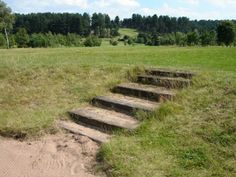 Oakmere Park Golf Course's steps, retaining walls and bridges, using used railway sleepers 7