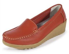Elegant Leather Flat Shoes