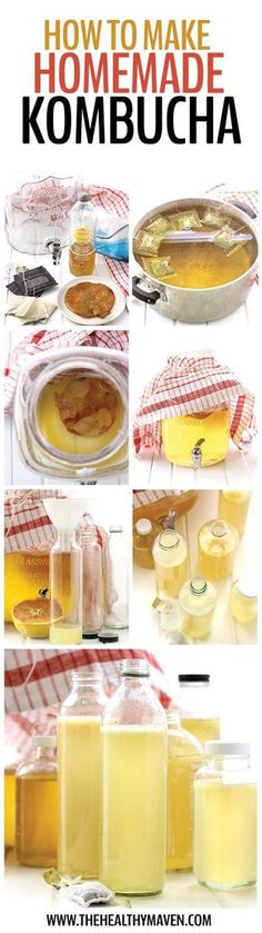 Have you ever wondered how to make homemade kombucha? Save your money and brew your own with this easy tutorial teaching you how PLUS two recipes for flavor variations. Your budget and digestive system will thank you.