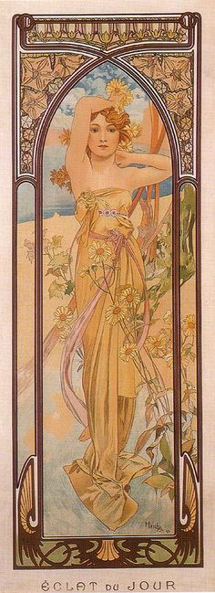 Daytime Dash 1899 | Alphonse Mucha | Oil painting reproductions