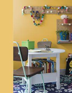 Another Primrose Yellow-ish hue from the Colorhouse collabo with The Land of Nod -- wall color is Pineapple Lollipop