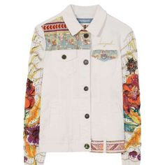 Jacket Exotic White Discover the spring-summer 2017 collection! Denim Blanco, Customised Clothes, Blazers, Denim Coat, Biker Style, Western Shirts, White Denim, Refashion, Fashion Prints