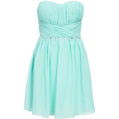 Bandeau dress in chiffon from ONENESS/NLY ONE. Pleats at the top. Silicone strip along the inside of the top to keep the dress in place. Padded cups and lined …