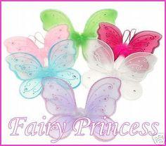 6 Jewel FAIRY Wings Ballet DANCE Dress Up Costume Wings
