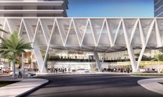 """Image 1 of 13 from gallery of SOM Reveals Design for """"All Aboard Florida"""" Train Station. Photograph by SOM"""