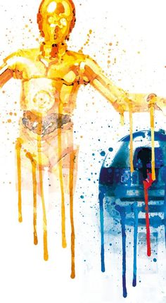 R2D2 And C3PO Star Wars Kids Room Poster Star by PRINTANDPROUD