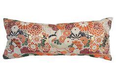 Japanese Obi Metallic Pillow on OneKingsLane.com