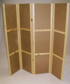 "Pegboard Display- 58""T, 4 Panels Hinged-Folds Flat -New 