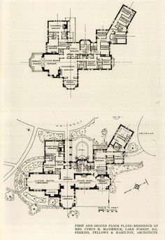 The floor plan of the McCormick Residence, Lake Forest