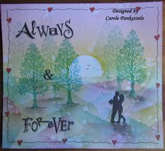 "Handcrafted greeting card - ""Always & Forever"". Suitable for Engagement, Wedding, Anniversary, Valentine High Street Shops, Card Envelopes, Always And Forever, Faeries, I Card, Clarity, Greeting Cards, Anniversary, Stamp"