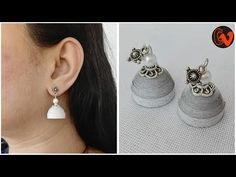 How to make Quilling jhumka tutorial. How to make Quilling jhumka tutorial Quilling Earrings Tutorial Hello all, Welcome to Creative V Channel, here you can watch and learn how to do a lot of Cupcake Jemma, How To Make Jello, Jello Cake, Quilling Earrings, Paper Flower Tutorial, Earring Tutorial, Halter Maxi Dresses, Diy Painting, Handicraft