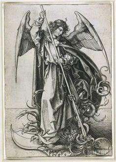 Saint Michael, St Micheal, Albrecht Durer, St Michael Tattoo, Martin Schongauer, A Discovery Of Witches, Mandala, Puzzle, Fine Art Prints