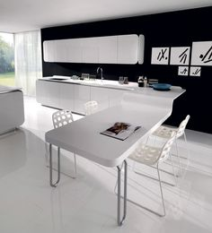 Elegant Urban Kitchen Ideas By Euromobil | Decorating Ideas, The Shape And The  Cabinet Amazing Pictures