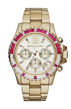 Michael Kors 'Everest' Baguette Crystal Bezel Bracelet Watch, 41mm available at #Nordstrom #relojmichaelkorsmujer #relojmichaelkors #relojesmichaelkors #reloj #michaelkors #relojes #relojesespana #espana