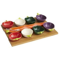 Pier 1 Tasting Party® Vegetable Set ~ This would be great for all the garnishes for menudo or pozole!