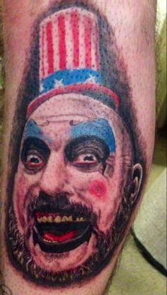 Captain Spaulding Tattoo. House of 1000 Corpses. Devils rejects. Bryan Lawrence