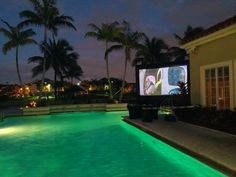 Movie Night by the Pool ! resident's favorite!