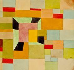 Aufgeteilte Farbvierecke, 1921 - Paul Klee Painting On Canvas