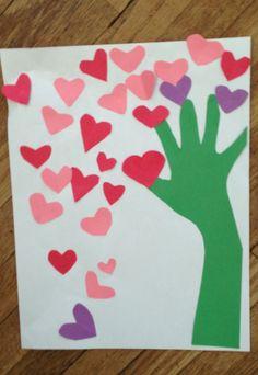 Valentines Day tree craft