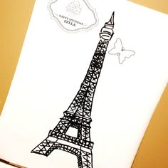 Glamorous Paris Birthday Party - Pin the Butterfly on the Eiffel Tower Game