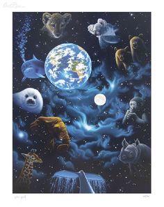 All the Worlds Children By Schim Schimmel - Serigraph on Paper
