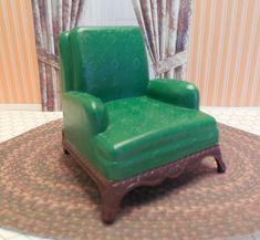 Vintage Dollhouse Furniture - Ideal Marx Plasco- mine was blue not green