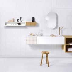 Vika's modular bathroom range is designed  to create comfortable wash areas