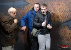 OMG! these scare-bro's brought gramps (senior scare-bro) to keep them safe...we made sure we scared the s*** outta all of them. www.NightmaresFear Factory.com Nightmares Fear Factory is Niagara Falls scariest and best haunted house attraction.