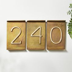 Rough Cast Brass House Numbers |