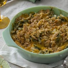 "Grandma's Green Bean Casserole | ""This recipe is much better than the standard mushroom soup and French fried onion version."""