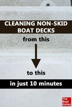 Cleaning our non-skid decks was a hated chore with scrubbing on our hands and knees. This product makes it much, much easier. via @TheBoatGalley