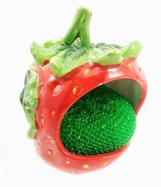 strawberry decor for kitchen | ... decor & Gifts TICO DECORATIONS-KITCHEN SCRUB,SPONGE HOLDER STRAWBERRY
