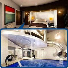 cool bedrooms with pools. Decadent Bedroom With Pool | Awesome Pinterest Trees, Floating Bed And Pools Cool Bedrooms S