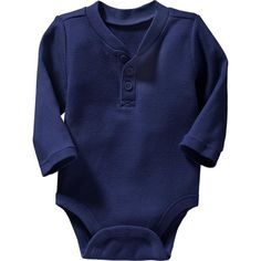 Old Navy Waffle Knit Henley Bodysuits For Baby Size 0-3 M - Goodnight... (16 BRL) ❤ liked on Polyvore featuring baby and baby boy